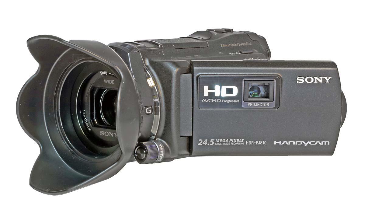 Videokamera SONY PJ810 - sluneční clona