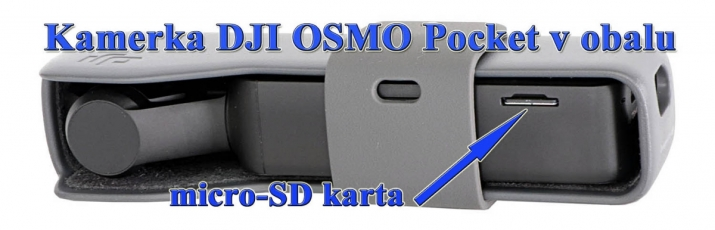 Kamerka DJI OMSO Pocket: detail micro SD-karty...