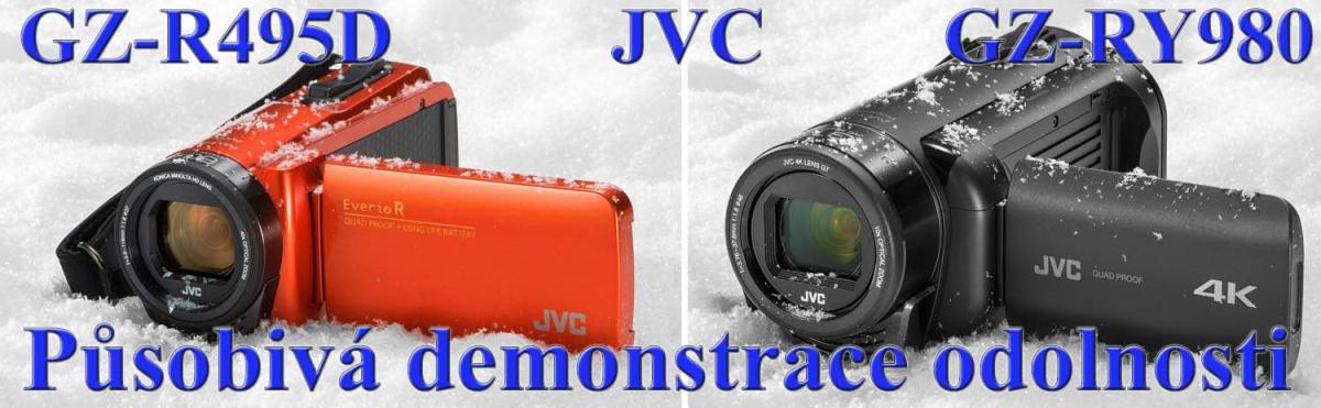 Základní a nejvyšší modely videokamer JVC: odolnost