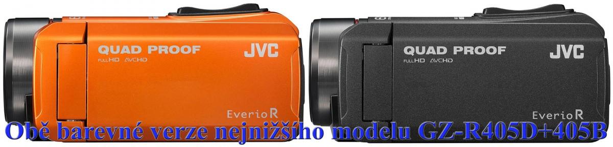 Obě barevné verze nejnižšího modelu JVC GZ-R405