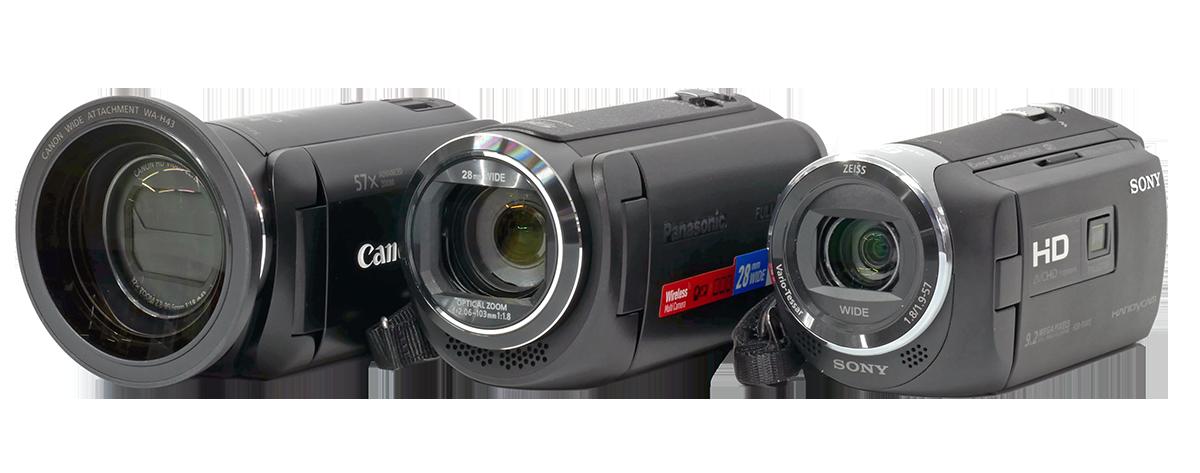 Trojice spotřebních videokamer Canon-Panasonic-Sony