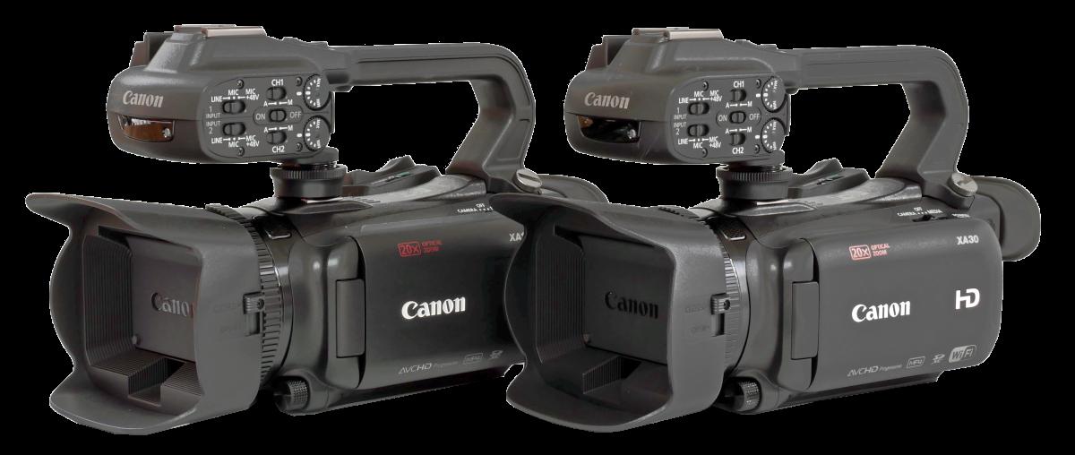 Nový a dosavadní Canon XA11 a XA30 vedle sebe...