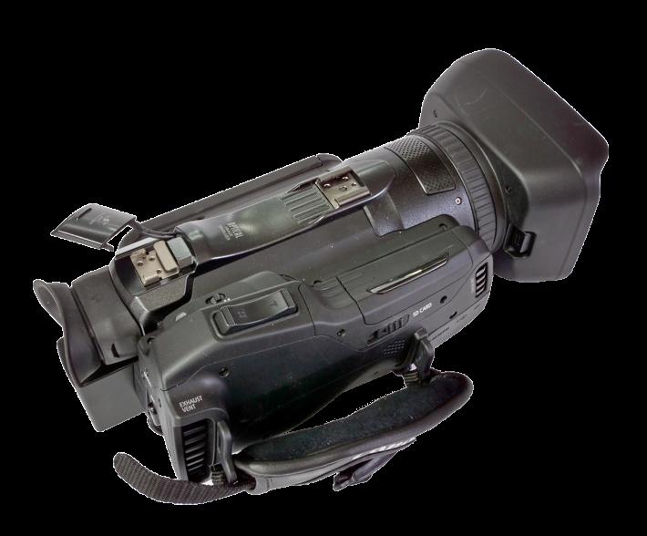 Videokamera Canon Legria GX10 v detailu shora