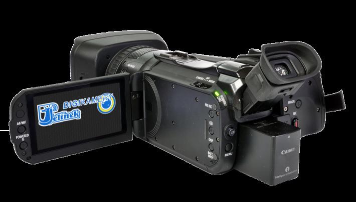 Videokamera Canon Legria GX10 zezadu