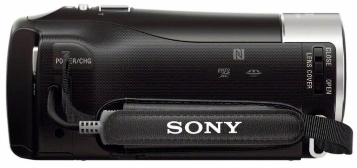 Videokamera Sony HDR-PJ410: design zprava zboku
