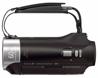 Videokamera Sony HDR-PJ410 v detailu shora