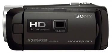 Videokamera Sony HDR-PJ410 v bočním detailu