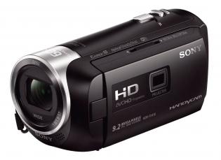 Videokamera Sony HDR-PJ410 v přední perspektivě